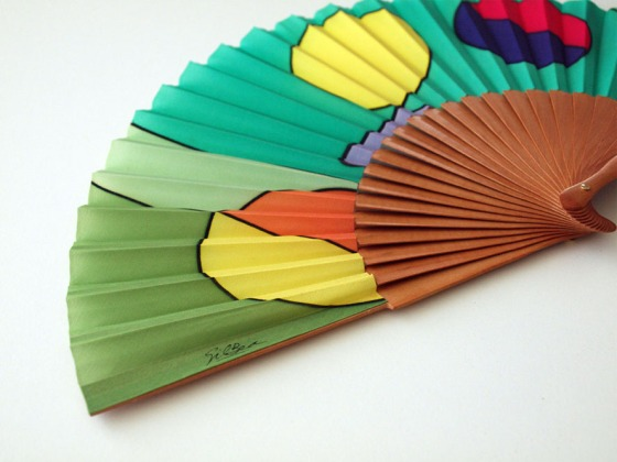 Hand painted Silk hand fan